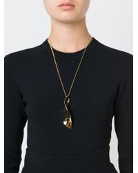 Chloé | Metallic Leaf Style Pendant Necklace | Lyst