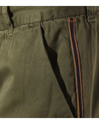 Current/Elliott - Green The Buddy Cotton Trousers - Lyst