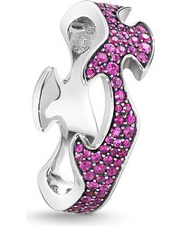 Georg Jensen - Purple Fusion 18ct White-gold And Pink Sapphire Ring - Lyst