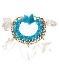 Aurelie Bidermann | Blue 'do Brasil' Charms Bracelet | Lyst