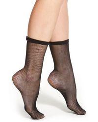 kate spade new york - Black Fishnet Trouser Socks - Lyst