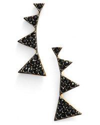 Nadri | Black Triangle Stud Earrings | Lyst