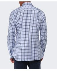 Hackett - Blue Slim Fit Gingham Oxford Shirt for Men - Lyst