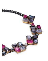 Erickson Beamon - Blue 'velvet Underground' Square Jewel Necklace - Lyst