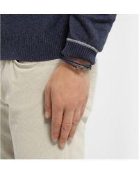 Tod's - Blue Woven-Leather Wrap Bracelet for Men - Lyst