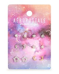 Aéropostale | Multicolor Celestial Stud Earrings 6-pack | Lyst