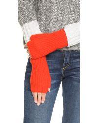 Rag & Bone - Red Alexis Fingerless Cashmere Gloves - Lyst