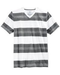 American Rag | White Bold Stripe T-shirt for Men | Lyst