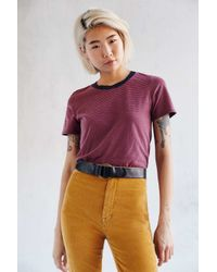 Truly Madly Deeply | Purple Boyfriend Ringer Tee | Lyst