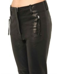 Isabel Marant - Black Henley Leather Trousers - Lyst