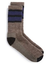 Smartwool | Brown 'hike' Stripe Socks for Men | Lyst