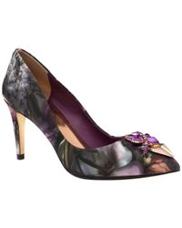 Ted Baker - Multicolor Adawle Bejewelled Court Shoes - Lyst