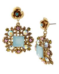 Betsey Johnson - Frog Stud Earrings (blue) Earring - Lyst