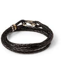 Paul Smith | Black Wovenleather Wrap Bracelet for Men | Lyst