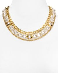 T Tahari | Metallic Layered Chain Necklace, 17"