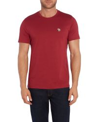 Paul Smith | Pink Zebra Regular Fit Logo T Shirt for Men | Lyst