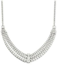 Wrapped in Love - Metallic Diamond Three-row Necklace (4 Ct. T.w.) In 14k White Gold - Lyst