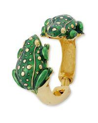 Kenneth Jay Lane - Green Frog Bracelet - Lyst