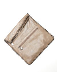 Stella McCartney - Metallic Falabella Fold-over Clutch Bag - Lyst