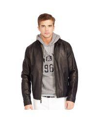 Polo Ralph Lauren | Black Leather Full-zip Jacket for Men | Lyst