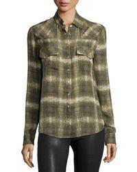 Haute Hippie - Green Basic Western Long-sleeve Shirt - Lyst
