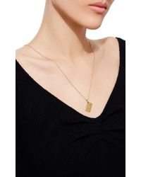 Sidney Garber - Metallic 18k Yellow Gold Love Letter Envelope Necklace - Lyst