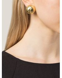 Vaubel | Metallic Round Clip-on Earring | Lyst