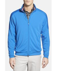 Bobby Jones | Blue Mesh Panel Full Zip Jacket for Men | Lyst