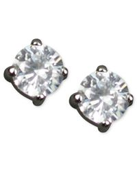 Givenchy | Metallic Round Cubic Zirconia Stud (3/4 Ct. T.w.) | Lyst