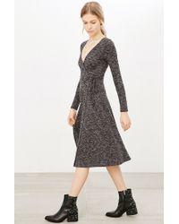 Kimchi Blue - Gray Ribbed Wrap Midi Dress - Lyst