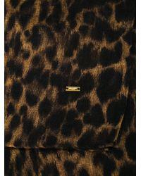 Saint Laurent - Black Leopard Print Scarf - Lyst
