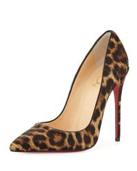 Christian Louboutin - Multicolor So Kate Calf Hair Red Sole Pump Leopardblack - Lyst