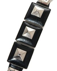 Toga Pulla - Metallic Square Pyramid Leather Bracelet - Lyst