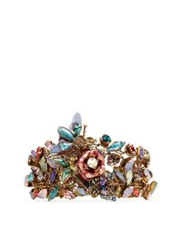 Erickson Beamon | Metallic Iron Butterfly' Pearlescent Appliqué Mix Crystal Bracelet | Lyst