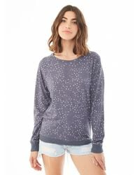 Alternative Apparel | Blue Slouchy Printed Eco-jersey Pullover | Lyst
