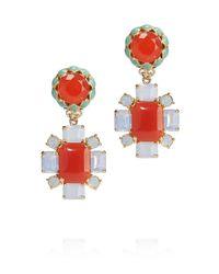 Tory Burch - Orange Rodeo Flower Drop Earring - Lyst