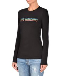 Love Moschino | Black Long Sleeve T-shirt | Lyst