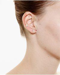 Yvonne Léon - Metallic 18K Gold Feuilletis Pampille Stud Earring - Lyst