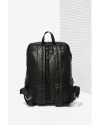 Nasty Gal - Black Bad Kids Vegan Leather Backpack - Lyst