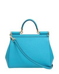 Dolce & Gabbana - Blue Medium Sicily Dauphine Leather Bag - Lyst