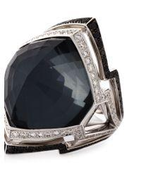 Stephen Webster - Metallic 18Kt White Gold Diamond Quartz Ring - Lyst