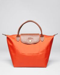 Longchamp - Orange Le Pliage Mini Tote - Lyst