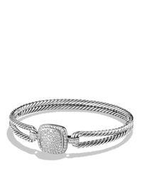 David Yurman | Metallic Albion Bracelet With Diamonds | Lyst