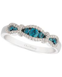 Le Vian | Exotics Diamond Blue Ring (3/8 Ct. T.w.) In 14k White Gold | Lyst