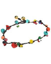 Aeravida | Multicolor Rainbow Treasure Multi Stone Jingle Belle Anklet | Lyst