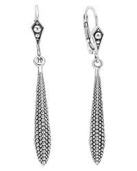 Lagos | Metallic 'kahina' Caviar Drop Earrings | Lyst
