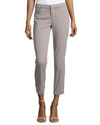 J Brand - Gray Kailee Slim Cropped Trouser - Lyst