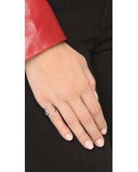 Vita Fede - Metallic Lyra Ring - Silver/clear - Lyst