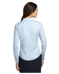 Brooks Brothers | Blue Petite Non-iron Fitted French Cuff Dress Shirt | Lyst