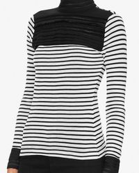 Yigal Azrouël - Blue Lace/stripe Turtleneck - Lyst